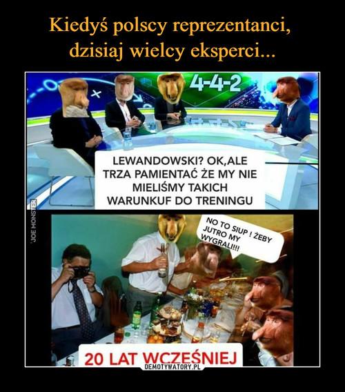 Kiedyś polscy reprezentanci,  dzisiaj wielcy eksperci...