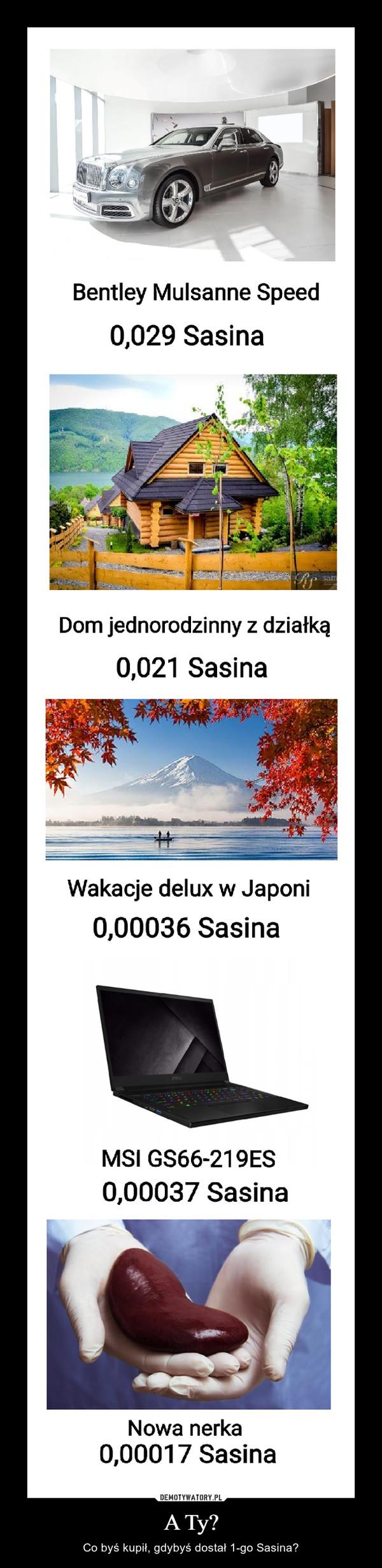 A Ty? – Co byś kupił, gdybyś dostał 1-go Sasina?