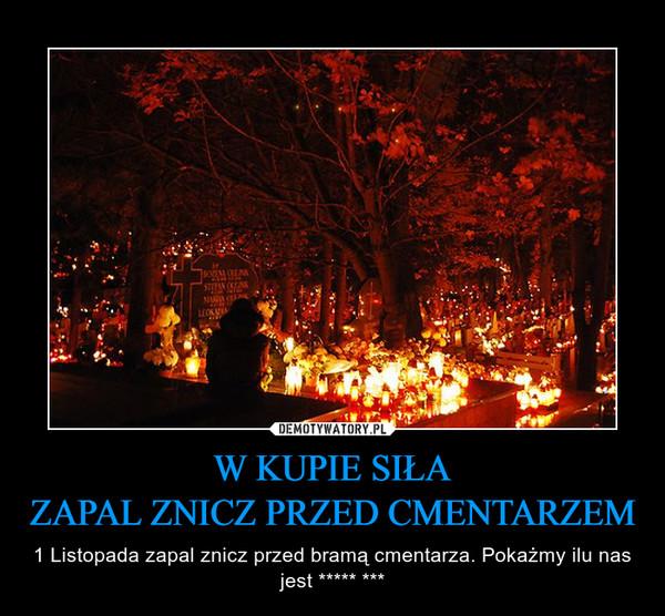 W KUPIE SIŁAZAPAL ZNICZ PRZED CMENTARZEM – 1 Listopada zapal znicz przed bramą cmentarza. Pokażmy ilu nas jest ***** ***
