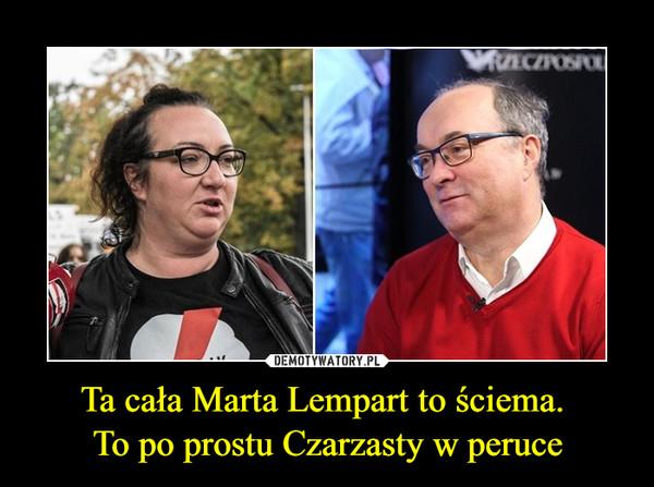 Ta cała Marta Lempart to ściema. To po prostu Czarzasty w peruce –
