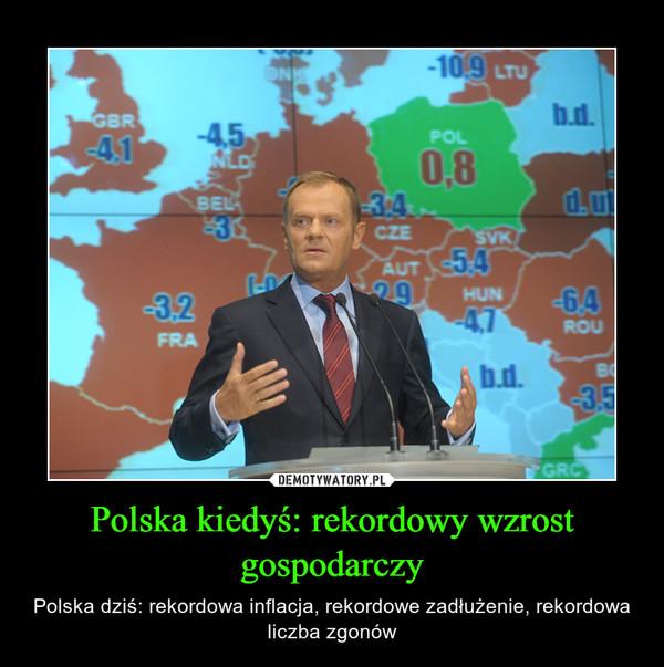 Polska kiedyś: rekordowy wzrost gospodarczy – Polska dziś: rekordowa inflacja, rekordowe zadłużenie, rekordowa liczba zgonów