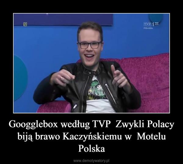 Googglebox według TVP  Zwykli Polacy  biją brawo Kaczyńskiemu w  Motelu Polska –