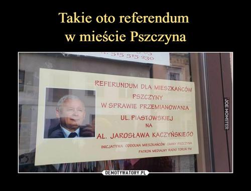 Takie oto referendum  w mieście Pszczyna