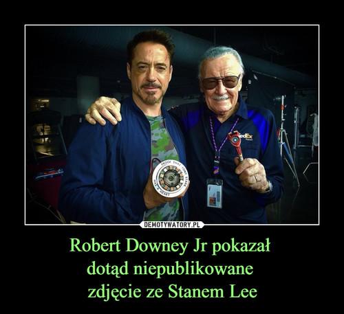 Robert Downey Jr pokazał  dotąd niepublikowane  zdjęcie ze Stanem Lee