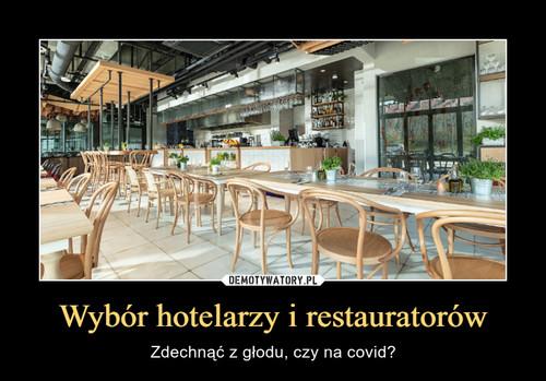Wybór hotelarzy i restauratorów