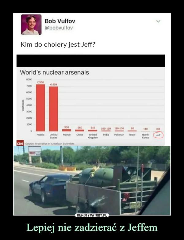 Lepiej nie zadzierać z Jeffem –