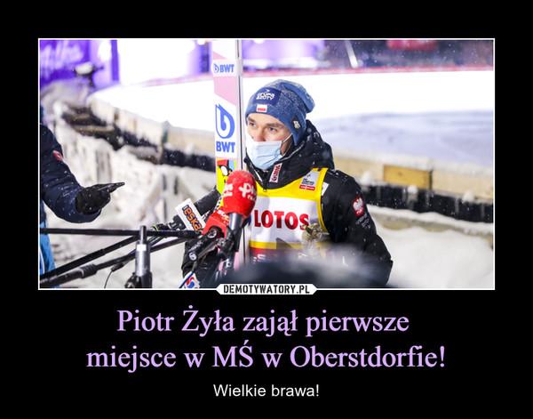 Piotr Żyła zajął pierwsze miejsce w MŚ w Oberstdorfie! – Wielkie brawa!
