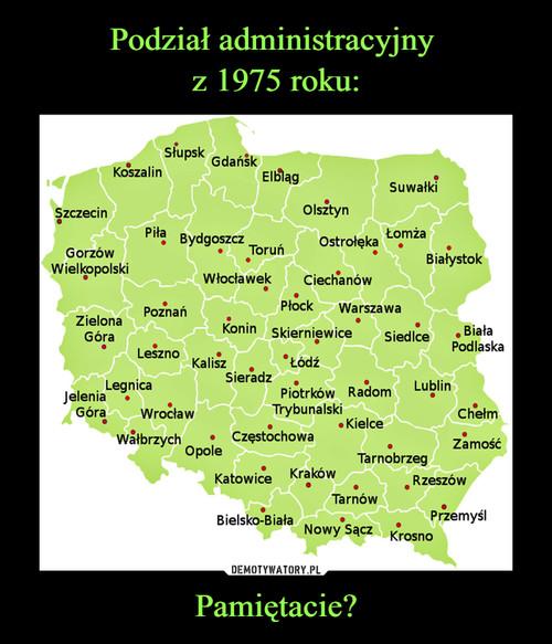 Podział administracyjny  z 1975 roku: Pamiętacie?