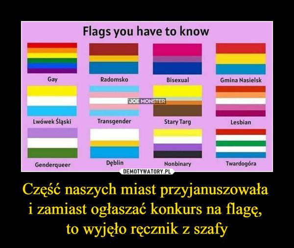 Część naszych miast przyjanuszowała i zamiast ogłaszać konkurs na flagę, to wyjęło ręcznik z szafy –