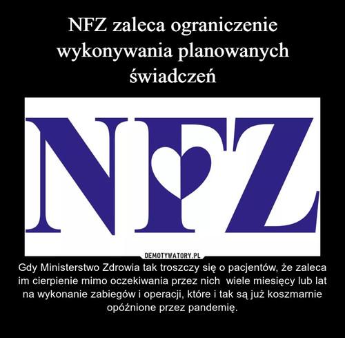 NFZ zaleca ograniczenie wykonywania planowanych świadczeń