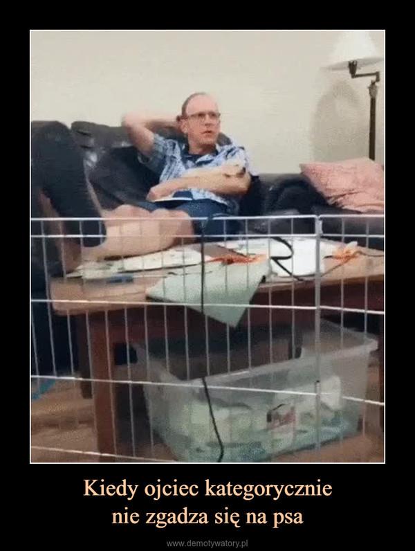 Kiedy ojciec kategorycznienie zgadza się na psa –