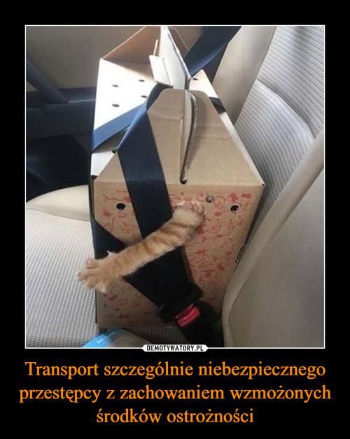 Transport szczególnie niebezpiecznego przestępcy z zachowaniem wzmożonych środków ostrożności