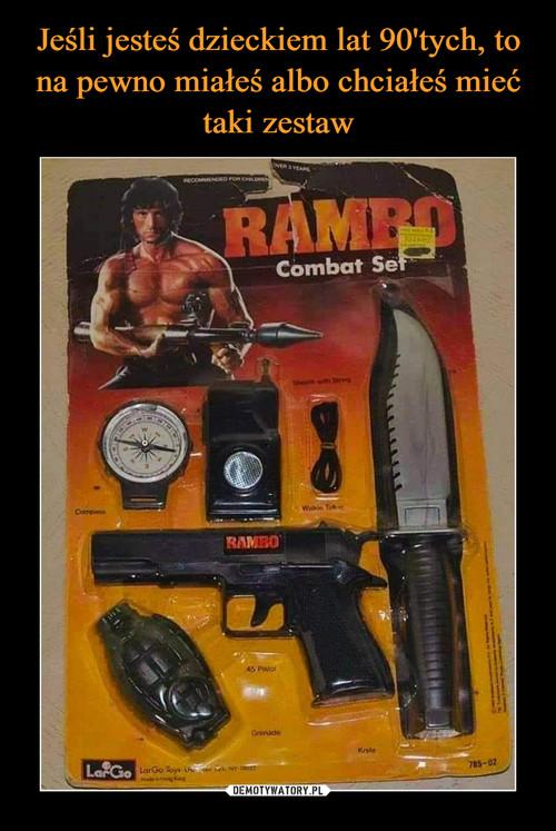 Jeśli jesteś dzieckiem lat 90'tych, to na pewno miałeś albo chciałeś mieć taki zestaw