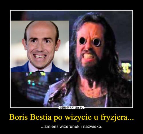 Boris Bestia po wizycie u fryzjera...