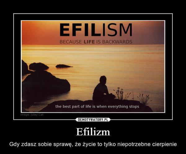 Efilizm – Gdy zdasz sobie sprawę, że życie to tylko niepotrzebne cierpienie