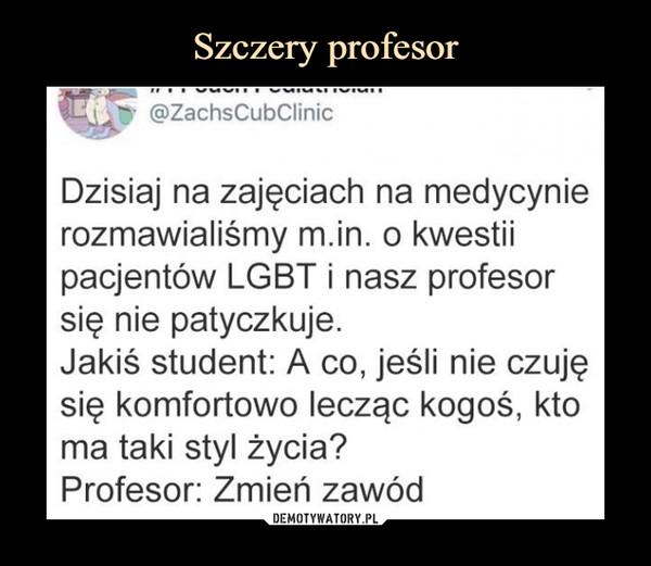 Szczery profesor